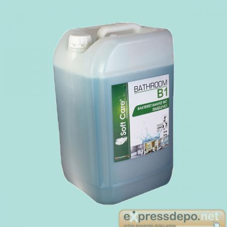 SOFT CARE B1 BATHROOM SANITAR BANYO WC TEMİZLEME MADDESİ 10 LT/KG ZEMİN