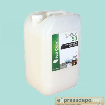 SOFT CARE S3 SURFACE ÇOK AMAÇLI KİR VE LEKE ÇÖZ.10 LT/KG