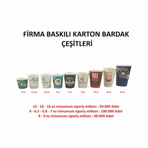 FİRMA LOGO BASKILI KARTON BARDAK 6.5 oz
