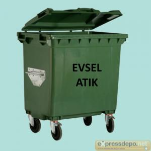 EVSEL ATIK KONTEYNERİ YEŞİL 660 lt.