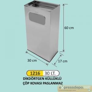 ARM ÇÖP KOVASI DİKDÖRTGEN PASL. 17X30X60