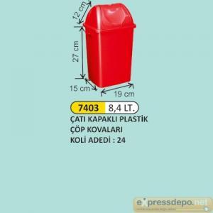 ARM ÇÖP KOVASI ÇATI KAPAKLI PLASTİK 8.4 LT 4197