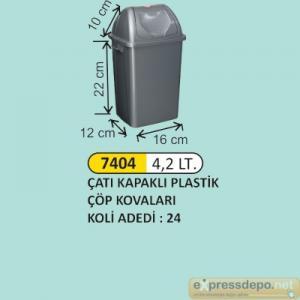 ARM ÇÖP KOVASI ÇATI KAPAKLI PLASTİK 4.2 LT 4196