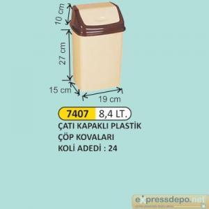 ARM ÇÖP KOVASI İTME KAPAKLI PLASTİK 8.4 LT 4180