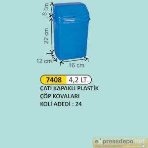 ARM ÇÖP KOVASI İTME KAPAKLI PLASTİK 4.2 LT 4175