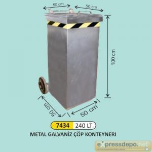 ARM KONTEYNER GALVANİZ 240 LT