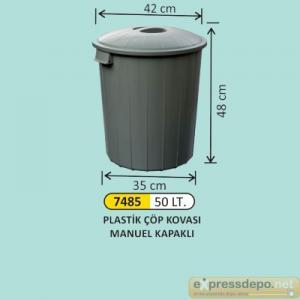 ARM ÇÖP KOVASI PLASTİK KAPAKLI 50 LT 4007