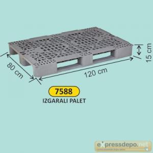 ARM PLASTİK PALET DELİKLİ 80x120x15 CM GRİ