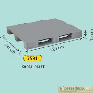 ARM PLASTİK PALET DELİKSİZ 100x120x15 CM GRİ