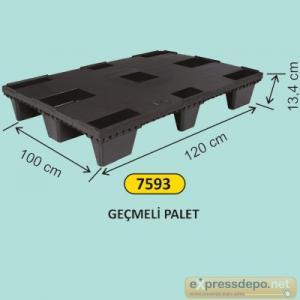 ARM PLASTİK PALET GEÇMELİ 100x120x13,4 CM SİYAH