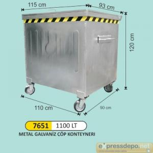 ARM KONTEYNER GALVANİZ 1100 LT