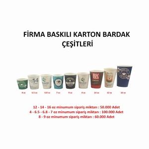 FİRMA LOGO BASKILI KARTON BARDAK 8 oz