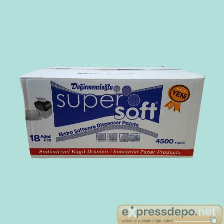 SUPER SOFT EXTRA DİSPENSER PEÇETE 4500 YAPR. YENİ*